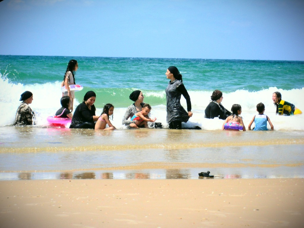 Wet Hijab Day at Tel Aviv Beach