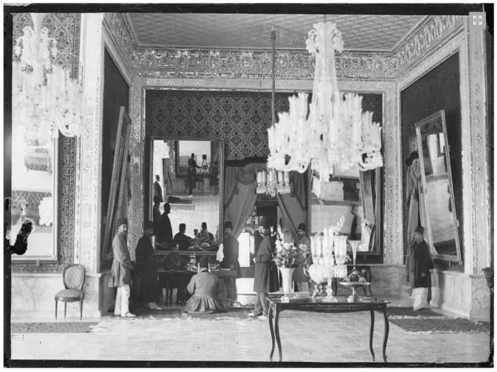 Antoin Sevruguin. Interior in Golestān Palace, ca. 1890.